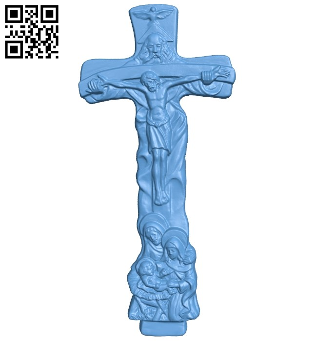 Cross symbol pattern A006343 download free stl files 3d model for CNC wood carving