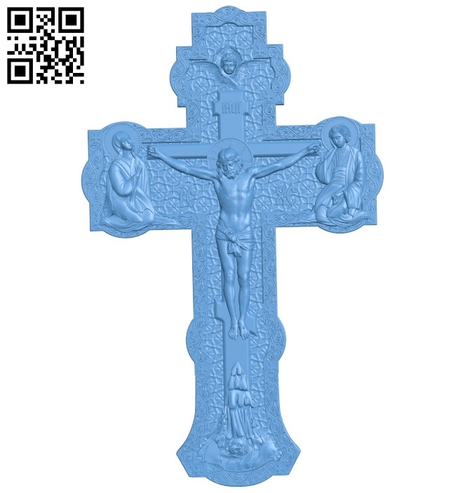 Cross symbol pattern A006345 download free stl files 3d model for CNC wood carving