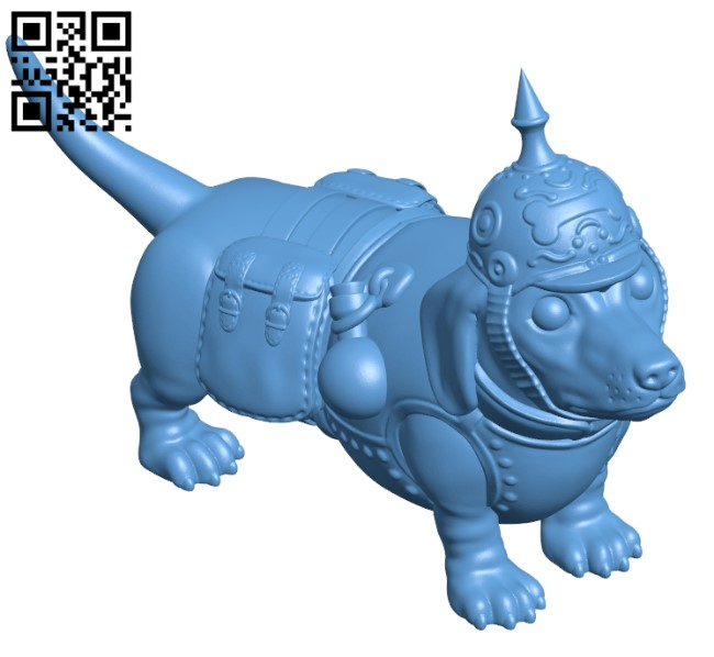 Dachshund - dog B009438 file obj free download 3D Model for CNC and 3d printer