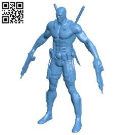 Deadpool – superhero B009482 file stl free download 3D Model for CNC and 3d printer