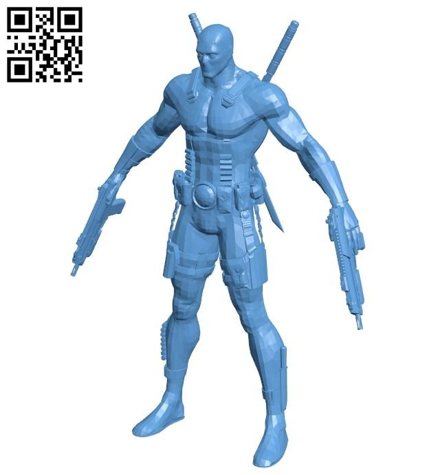 Deadpool - superhero B009482 file stl free download 3D Model for CNC and 3d printer