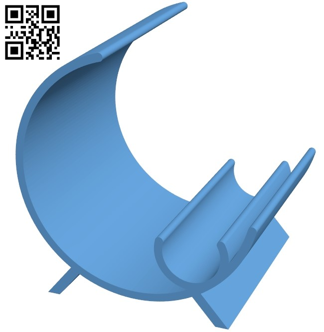 Deskstand - smartphone B009530 file stl free download 3D Model for CNC and 3d printer