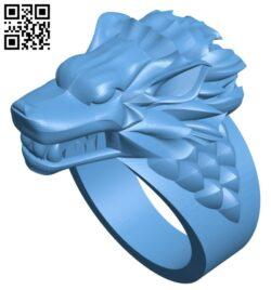 Direwolves ring B009501 file stl free download 3D Model for CNC and 3d printer