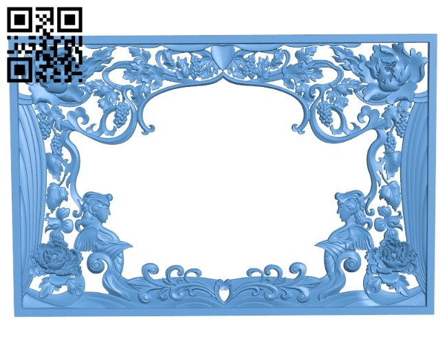 Door pattern A006390 download free stl files 3d model for CNC wood carving