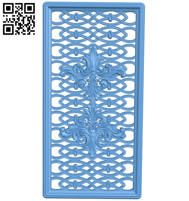 Door pattern A006392 download free stl files 3d model for CNC wood carving