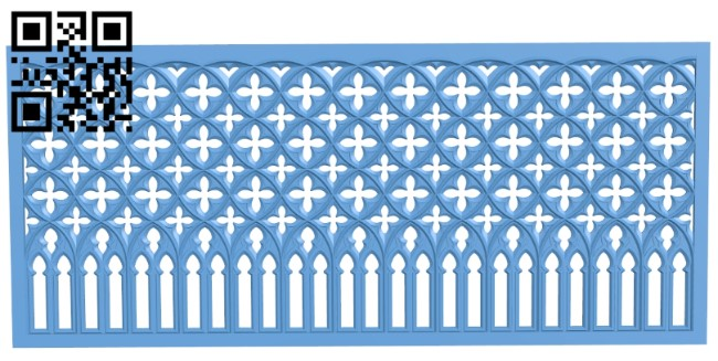 Door pattern A006393 download free stl files 3d model for CNC wood carving