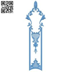 Door pattern A006397 download free stl files 3d model for CNC wood carving