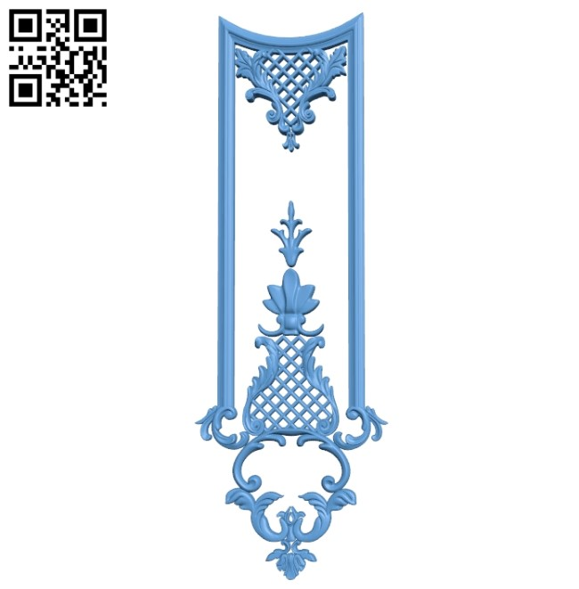 Door pattern A006398 download free stl files 3d model for CNC wood carving