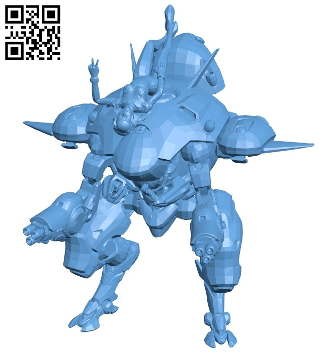 Dva Victory pose B009393 file obj free download 3D Model for CNC and 3d printer