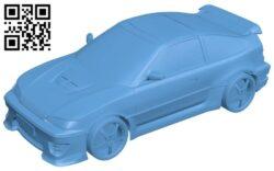 Honda crx 1980 – car B009528 file stl free download 3D Model for CNC and 3d printer