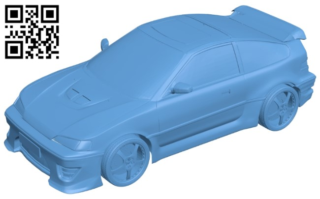 Honda crx 1980 - car B009528 file stl free download 3D Model for CNC and 3d printer