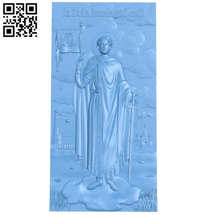 Icon Alexander Nevsky A006348 download free stl files 3d model for CNC wood carving
