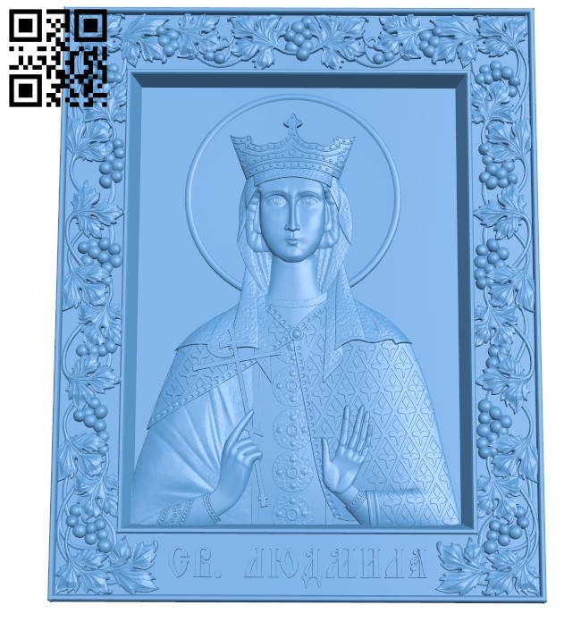 Icon Alexander Nevsky A006349 download free stl files 3d model for CNC wood carving