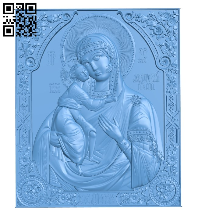 Icon Fedorovskaya A006359 download free stl files 3d model for CNC wood carving