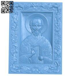 Icon Saint Nicholas A006357 download free stl files 3d model for CNC wood carving