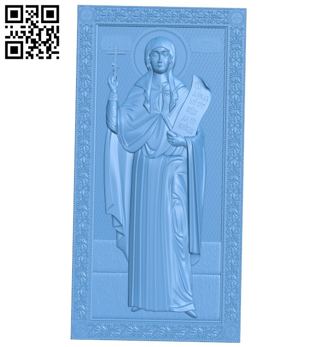 Icon of Photini the Samaritan A006356 download free stl files 3d model for CNC wood carving