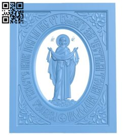 Icon of the Intercession PB in the frame A006358 download free stl files 3d model for CNC wood carving