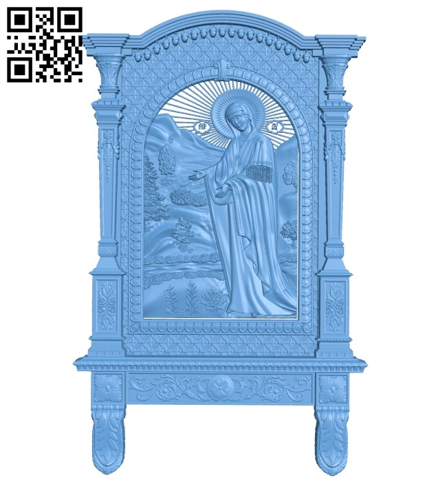 Icon of the mother of God A006354 download free stl files 3d model for CNC wood carving