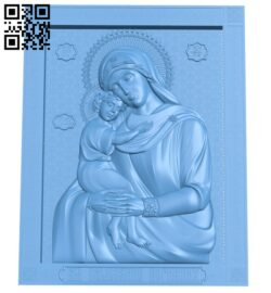 Icon of the mother of God A006355 download free stl files 3d model for CNC wood carving