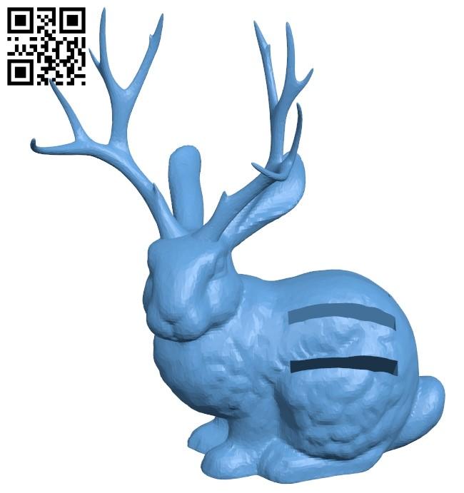 Jackalope sd holder B009411 file obj free download 3D Model for CNC and 3d printer