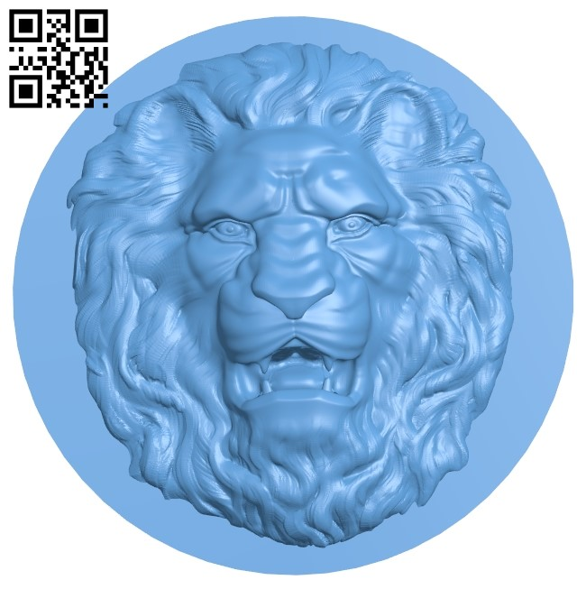 Lion head pattern A006330 download free stl files 3d model for CNC wood carving