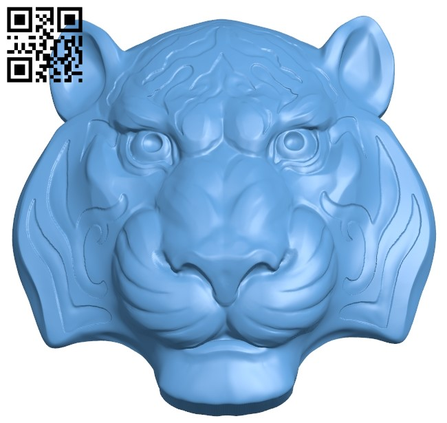 Lion head pattern A006331 download free stl files 3d model for CNC wood carving
