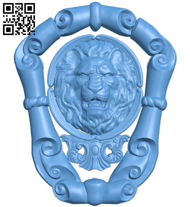 Lion head pattern A006332 download free stl files 3d model for CNC wood carving