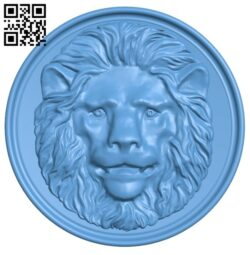 Lion head pattern A006333 download free stl files 3d model for CNC wood carving