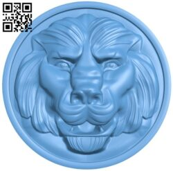 Lion head pattern A006334 download free stl files 3d model for CNC wood carving