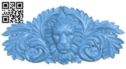 Lion head pattern A006335 download free stl files 3d model for CNC wood carving