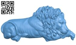 Lion pattern A006337 download free stl files 3d model for CNC wood carving