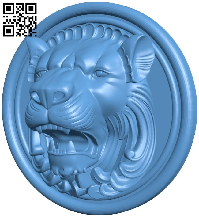 Lion pattern A006338 download free stl files 3d model for CNC wood carving