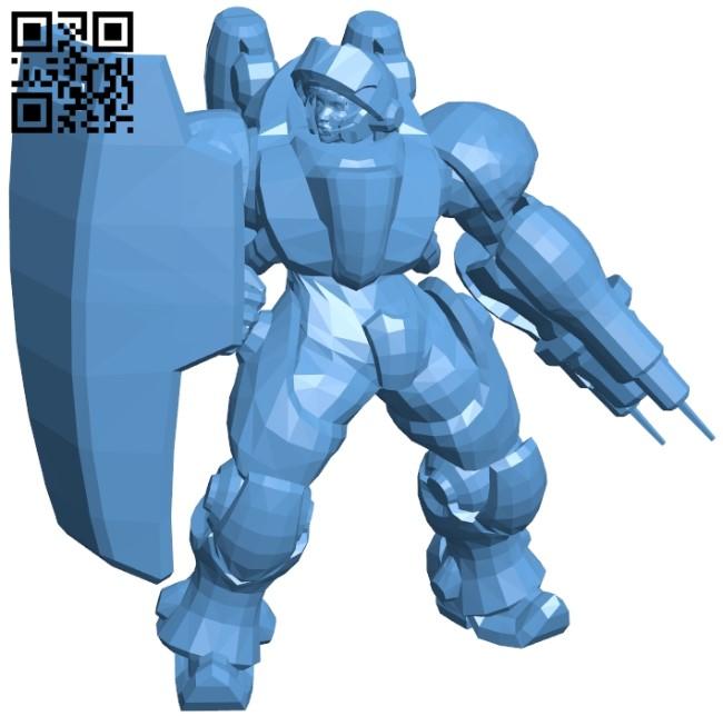 Lt Morales Medic B009430 file obj free download 3D Model for CNC and 3d printer