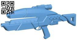 Mass effect assault rifle – gun B009383 file obj free download 3D Model for CNC and 3d printer