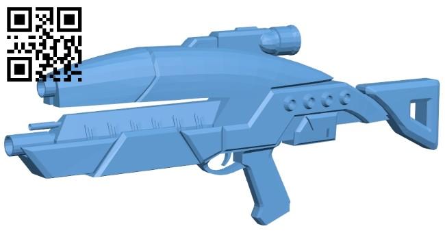 Mass effect assault rifle - gun B0093832 file obj free download 3D Model for CNC and 3d printer