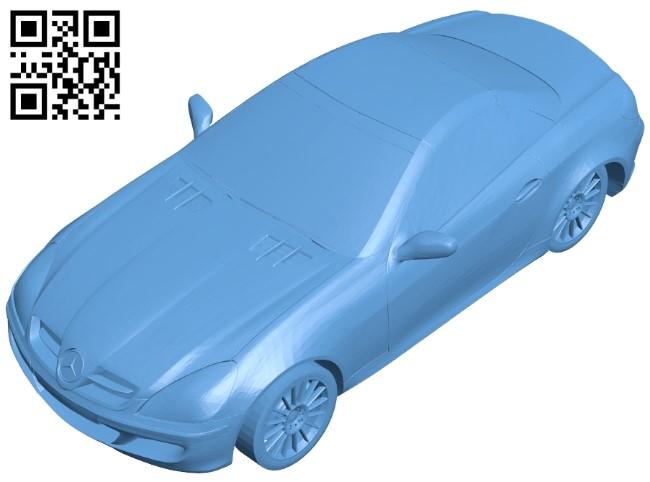Mercedes SLK car B009511 file stl free download 3D Model for CNC and 3d printer