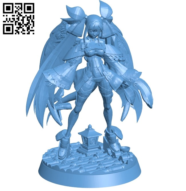 Miss Dizzy B009531 file stl free download 3D Model for CNC and 3d printer