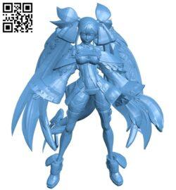 Miss Dizzy GGX B009512 file stl free download 3D Model for CNC and 3d printer