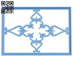 Pattern decor design A006373 download free stl files 3d model for CNC wood carving