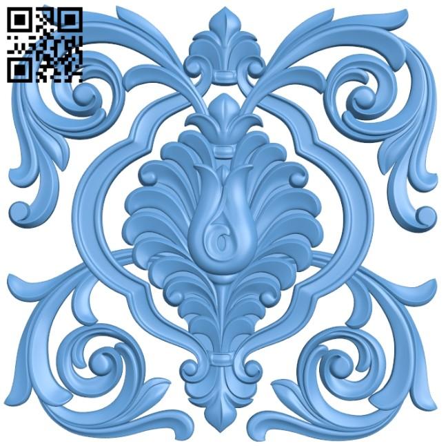 Pattern decor design A006463 download free stl files 3d model for CNC wood carving
