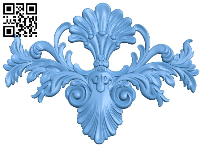 Pattern decor design A006464 download free stl files 3d model for CNC wood carving