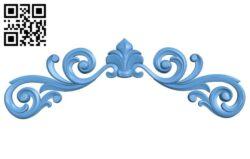 Pattern decor design A006469 download free stl files 3d model for CNC wood carving