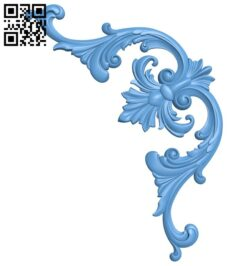 Pattern in the corner A006310 download free stl files 3d model for CNC wood carving