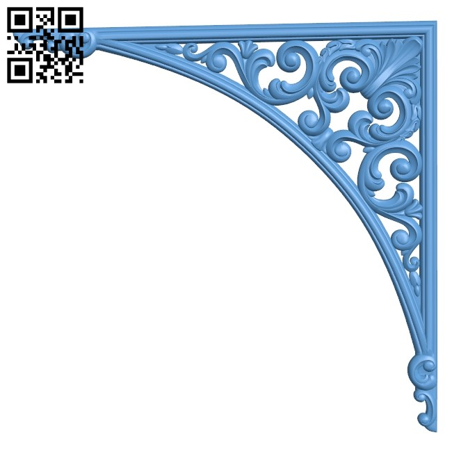Pattern in the corner A006313 download free stl files 3d model for CNC wood carving