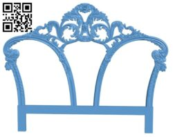Pattern of the bed frame A006440 download free stl files 3d model for CNC wood carving