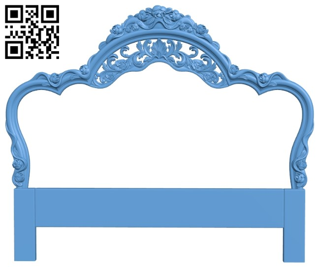 Pattern of the bed frame A006441 download free stl files 3d model for CNC wood carving