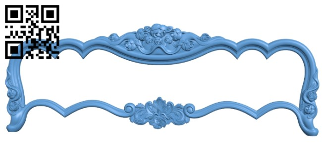Pattern of the bed frame A006442 download free stl files 3d model for CNC wood carving