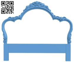 Pattern of the bed frame A006443 download free stl files 3d model for CNC wood carving