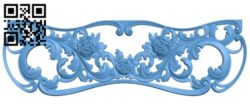 Pattern of the bed frame A006448 download free stl files 3d model for CNC wood carving