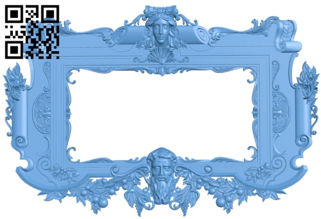 Picture frame or mirror A006320 download free stl files 3d model for CNC wood carving